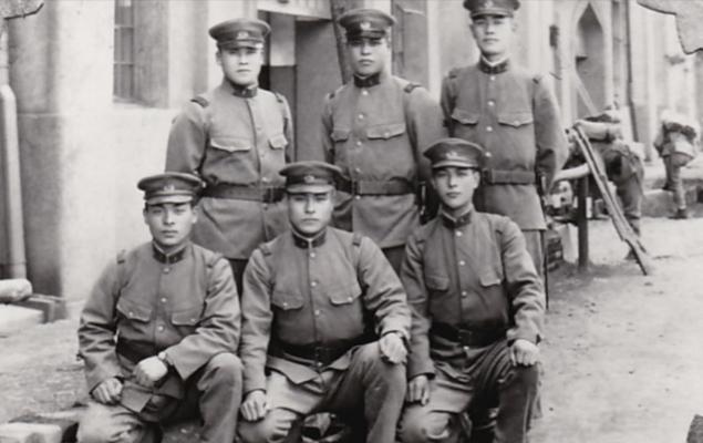吉雄の入隊